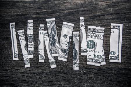 Cut up money